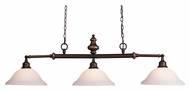 Landmark 66175-3 Lurray 3 Lamp Aged Bronze Island Light Fixture - 52 Inches Wide