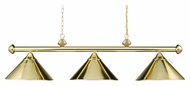 Landmark 168-PB Casual Traditions 3 Lamp Kitchen Island Light Fixture - Polished Brass