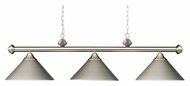 Landmark 168-SN Casual Traditions 51 Inches Wide Satin Nickel 3 Lamp Island Lighting