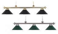 Landmark 167-PB-BK Casual Traditions 3 Lamp Island Lighting With Finish And Glass Options