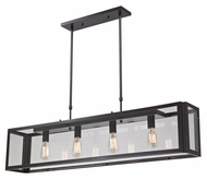 Landmark 63023-4 Parameters-Bronze 4 Lamp 47 Inch Wide Modern Ktichen Island Lighting