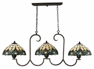 Landmark 70120-3 Gameroom Tiffany Bronze Finish 51 Inch Wide Island Lighting Fixture