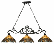 Landmark 70110-3 Gameroom 51 Inch Wide 3 Lamp Tiffany Kitchen Island Lighting