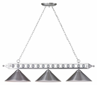 Landmark 66600-3 Gameroom Brushed Nickel 57 Inch Wide Island Lighting Fixture