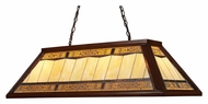 Landmark 70112-4 Filigree 44 Inch Wide Dark Mahogany Billiard Island Light Fixture