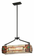 Landmark 70118-3 Oak Bridge 25 Inch Wide Tiffany Bronze Kitchen Island Lighting Fixture