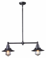 Landmark 66830-2 Insulator Glass 2 Lamp Weathered Zinc Vintage Kitchen Island Lighting