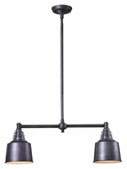 Landmark 66832-2 Insulator Glass 28 Inch Wide Weathered Zinc Island Lighting - 2 Lamps