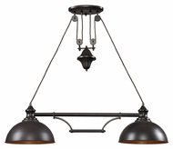 Landmark 65150-2 Farmhouse 2 Lamp 44 Inch Wide Kitchen Island Light - Oiled Bronze