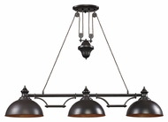 Landmark 65151-3 Farmhouse Transitional Oiled Bronze 3 Lamp Island Lighting Fixture