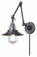 ELK 66826-1 Insulator Glass Weathered Zinc 18 Inch Tall Swing Arm Wall Lamp