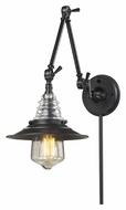Landmark 66816-1 Insulator Glass Vintage Swing Arm Wall Lamp - Oiled Bronze