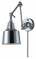 Landmark 66805-1 Insulator Glass Polished Chrome Swing Arm 18 Inch Tall Wall Lamp
