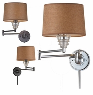 Landmark Insulator Glass Swing Arm Vintage Wall Lamp With Finish Options