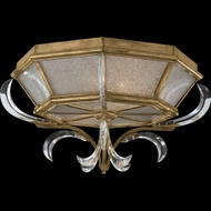 Fine Art 767640 Beveled Arcs Gold Flush Mount 26 Inch Diameter Overhead Lighting Fixture