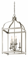 Kichler 42568NI Larkin Large 6 Lamp Brushed Nickel Foyer Lighting Pendant
