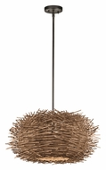 Kichler 43203OZ Twigs 21 Inch Diameter Olde Bronze Finish Drop Lighting Fixture