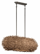 Kichler 43204OZ Twigs 34 Inch Wide 2 Lamp Island Light Fixture