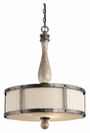 Kichler 43323DAG Evan 20 Inch Diameter Distressed Antique Gray Pendant Light