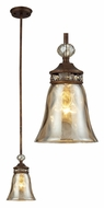 ELK 46020/1 Cheltham Antique Style 6 Inch Diameter Mocha Mini Pendant Lamp