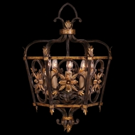 Fine Art 242749 Castile Warm Gold Leaf 5 Candle Traditional Lantern Pendant Light