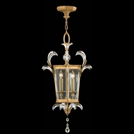 Fine Art 762340 Beveled Arcs Gold 3 Candle 22 Inch Diameter Gold Leaf Hanging Lantern Pendant