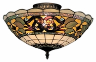 Landmark 941-TB Tiffany Buckingham 16 Inch Diameter Semi Flush Lighting Fixture - Tiffany