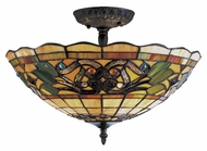 Landmark 942-VA Tiffany Buckingham Vintage Antique 16 Inch Diameter Overhead Lighting