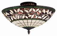 Landmark 933-TB English Ivy Tiffany Art Glass 16 Inch Diameter Overhead Lighting