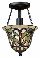 Landmark 70114-1 Latham Semi Flush Mount Tiffany Bronze Overhead Lighting