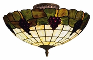 ELK 931-VA Grapevine Semi Flush Vintage Antique Ceiling Lighting Fixture