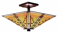 Landmark 935-TB Arrowhead Tiffany Bronze 16 Inch Diameter Semi Flush Lighting