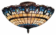 Landmark 936-CB Victorian Ribbon 16 Inch Diameter Classic Bronze Tiffany Ceiling Light