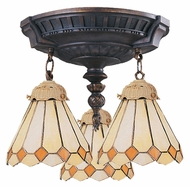 Landmark 997-AW-05 Mix-N-Match Aged Walnut Orange Diamond 14 Inch Diameter Overhead Lighting