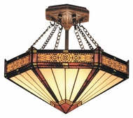 Landmark 621-AB Filigree Aged Bronze 14 Inch Diameter Tiffany Overhead Lighting