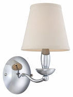 Lite Source LS-13991C Althea 14 Inch Tall Chrome Transitional Wall Sconce Light
