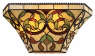 Landmark 08042-GB Majestic Tiffany Style Golden Bronze Finish Pocket Wall Sconce