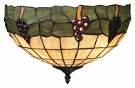 Landmark 70099-2 Grapevine 14 Inch Wide Tiffany Art Glass Pocket Sconce Light