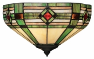 Landmark 70095-2 Gameroom Tiffany Art Glass 14 Inch Wide Wall Sconce Lighting