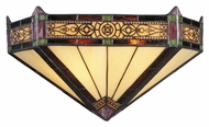 Landmark 08030-AB Filigree Tiffany 14 Inch Wide Aged Bronze Sconce Lighting