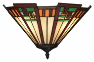 Landmark 70115-2 Oak Bridge 15 Inch Wide Tiffany Bronze Pocket Wall Sconce