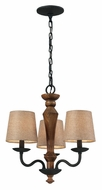 ELK 14132/3 Early American 18 Inch Diameter Vintage Rust Mini Chandelier Light