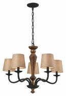 ELK 14133/5 Early American 5 Lamp Rustic Chandelier Lighting - 28 Inch Diameter