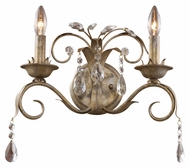 Landmark 08082-WS Angelite Traditional 2 Candle Wall Lighting - Weathered Silver