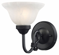 Landmark 241-BK Buckingham 9 Inch Tall Traditional Wall Lighting Fixture - Matte Black