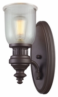 Landmark 66760-1 Chadwick 15 Inch Tall Oiled Bronze Ribbed Wall Light Fixture
