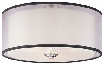 Maxim 23031SWSN Orion 3-light Flush Mount Ceiling Lighting
