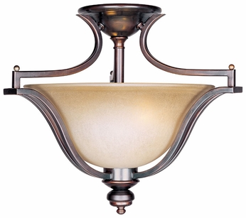 Maxim 10171WSOI Madera 3-light Large Semi-flush Oil-Rubbed Bronze Overhead Light Fixture