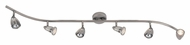 Trans Globe W-466-6 BN Brushed Nickel Finish 47 Inch Wide 6 Lamp Monorail Lighting