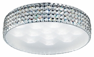 Trans Globe MDN-1165 Large Flush Mount 21 Inch Diameter Crystal Ceiling Lamp